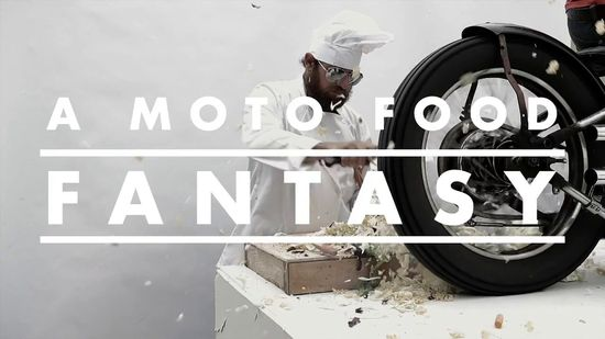 "A brilliant antidote to all those motorcycle videos that take themselves waaaay too seriously: ""A Moto Food Fantasy"" from See See Motorcycles.   Delicious."