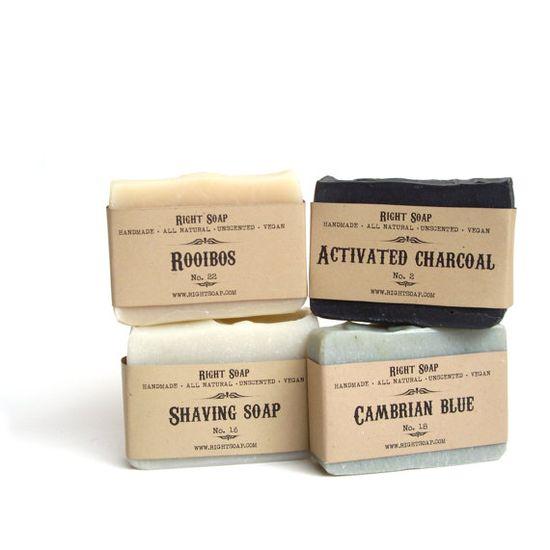 Gift Set - Men Soap set, Vegan Soap, Unscented Soap, All Natural Soap, Handmade Soap, Fragrance Free Soap,