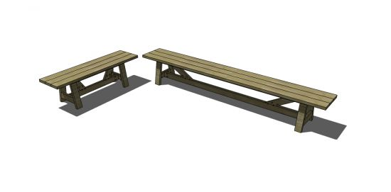 Free DIY Furniture Plans to Build Provence Beam Benches