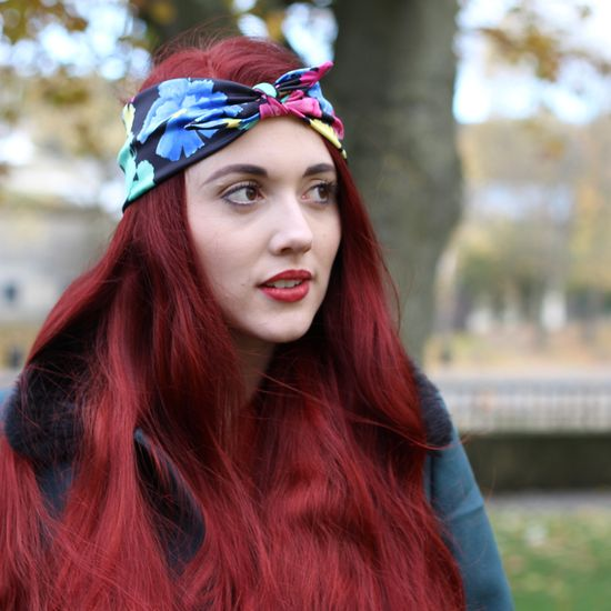 Crown and Glory Hair Accessories — Erica Bright Floral Headscarf