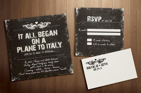 wedding invites from Etsy. Love!