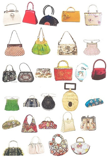 Vintage Handbags Collage sheet