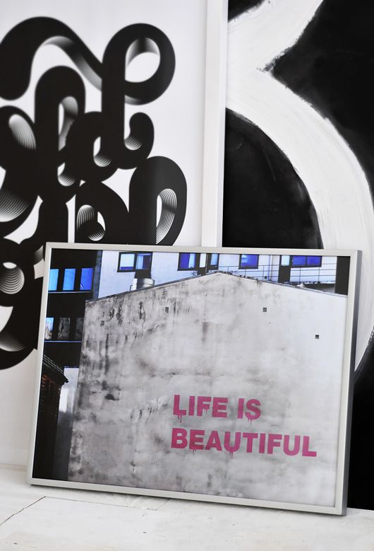 Quote life is beautiful / poster / photo art