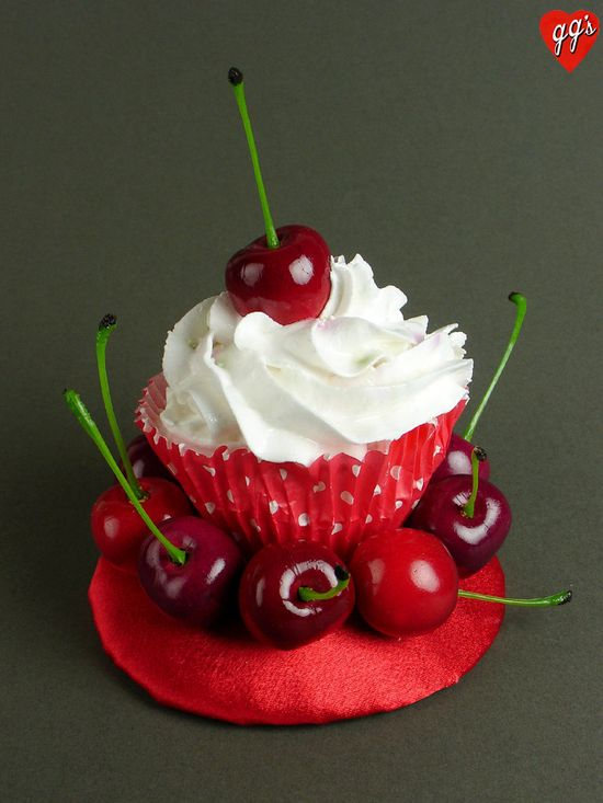 Cherries Cupcake Fascinator