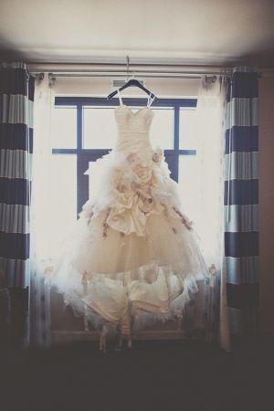 flower bomb wedding dress by Ian Stuart
