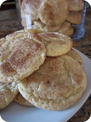 Mom's Snickerdoodle Cookies From sixsistersstuff #Recipe #Dessert