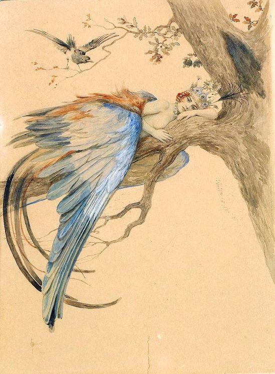 Blue Bird (Bird Sirin) - Sergey Solomko.