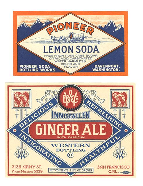 Lemon Soda and Ginger Ale Labels