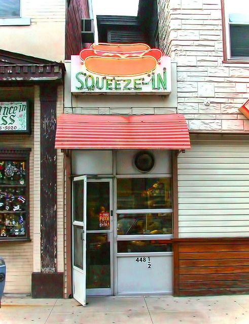 """Squeeze-In"" Diner Store Front"