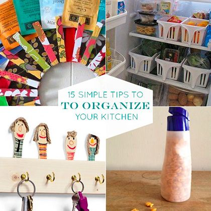 15 simple way to organize your kitchen