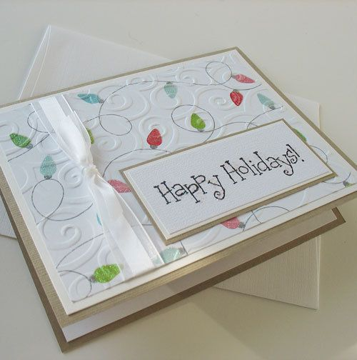 Christmas Card  Handmade Blank Note Card  Happy by Sentimentalist, $2.50