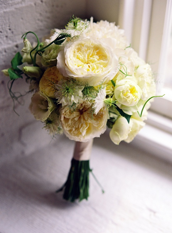 This is one VERY romantic and textural bouquet! Photography by KarenWise.com...except i would like it in soft PINK