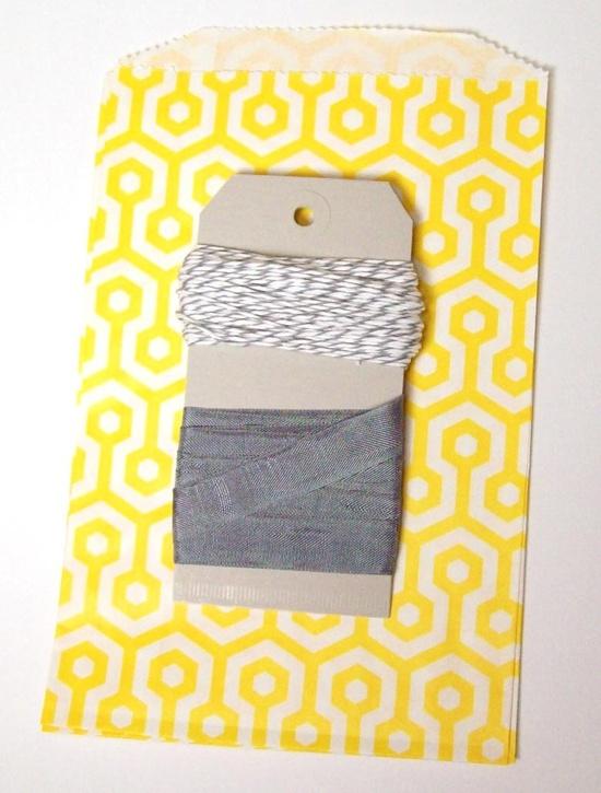 DIY Wedding Materials // Yellow and Gray