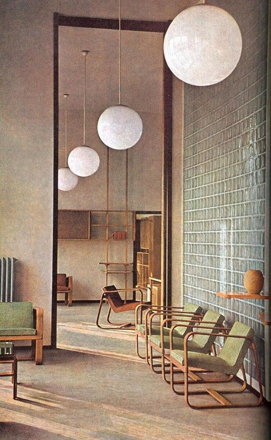 office interior and furniture by giuseppe pagano pogatsching, c.1942.