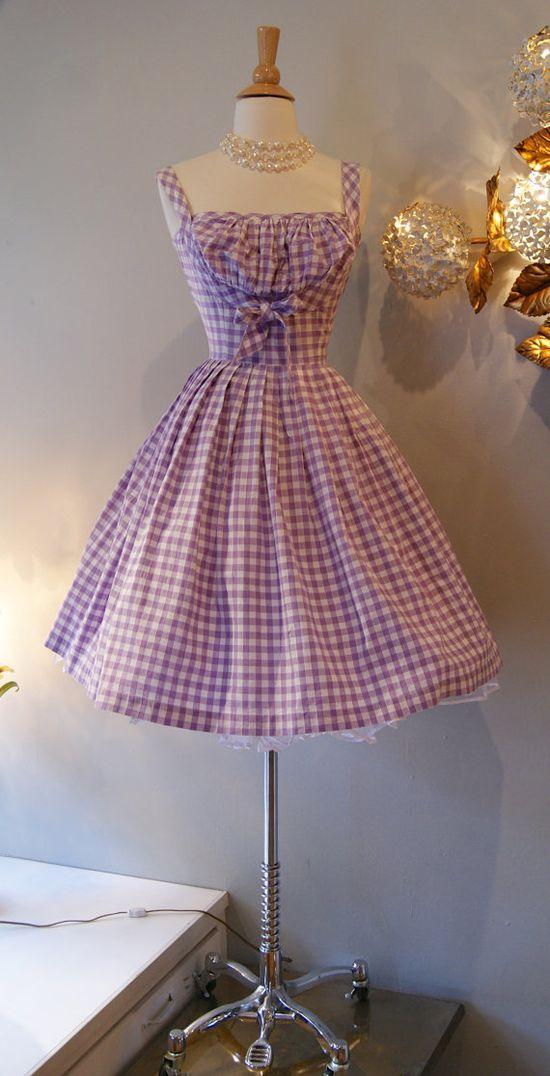 1950's So Cute Gingham Dress
