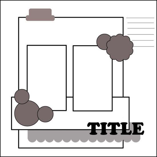scrapbook layout sketch