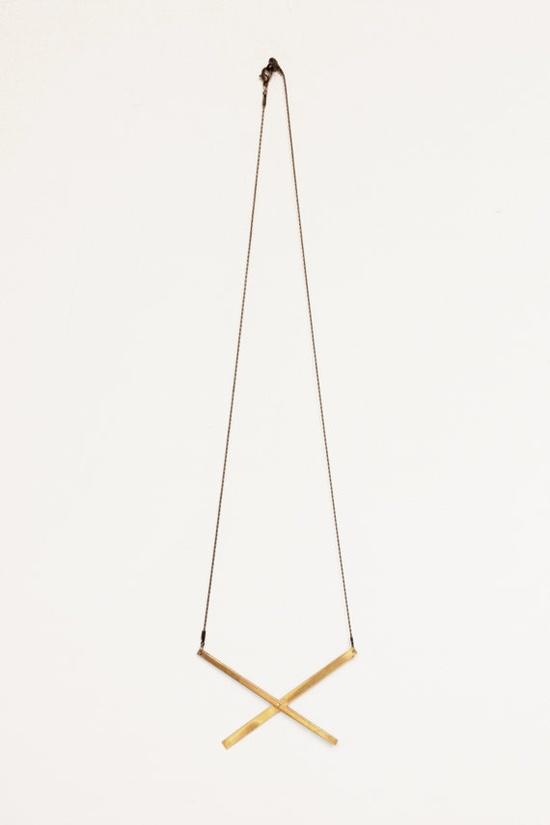 X Brass Necklace