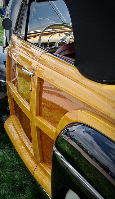 Woody, classic US car #coolcars QuirkyRides.com