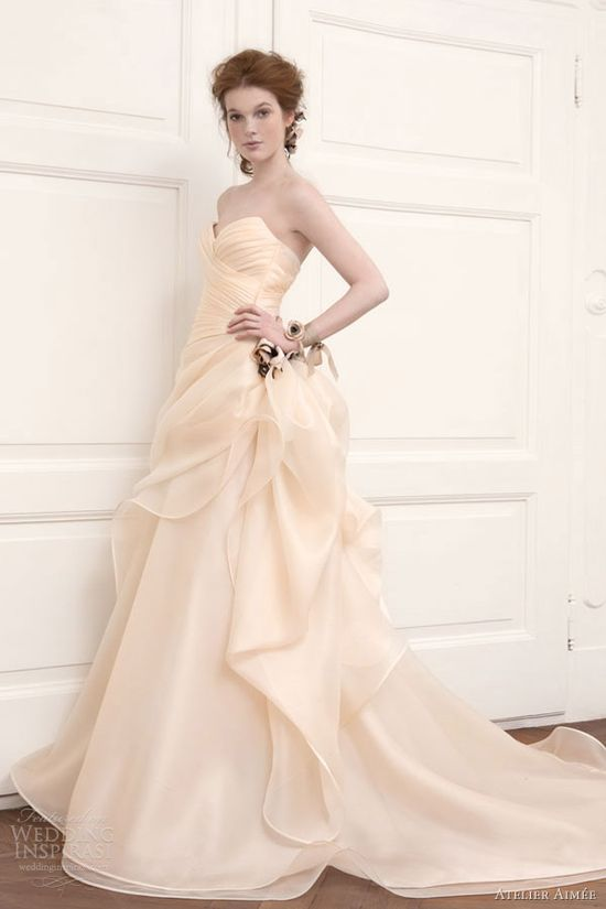 atelier aimee wedding dresses 2013 bridal rosa cipria gown
