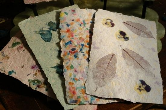 handmade paper make your
