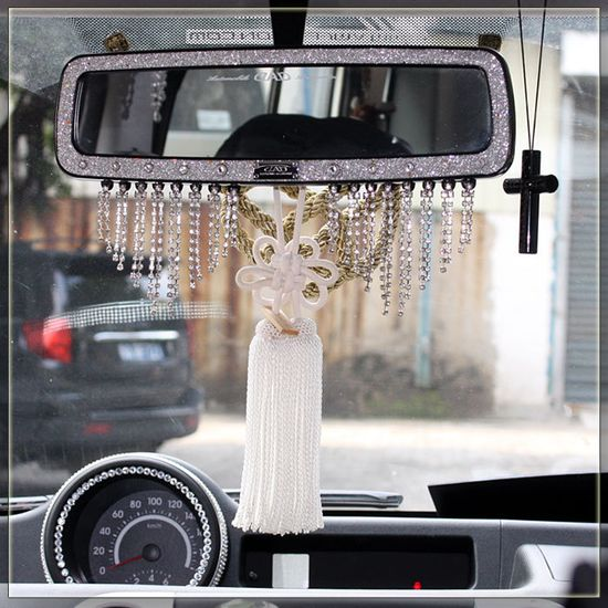 Cars and such: Car car hangings dad jp chrysanthemum knot hangings car accessories pendant mink