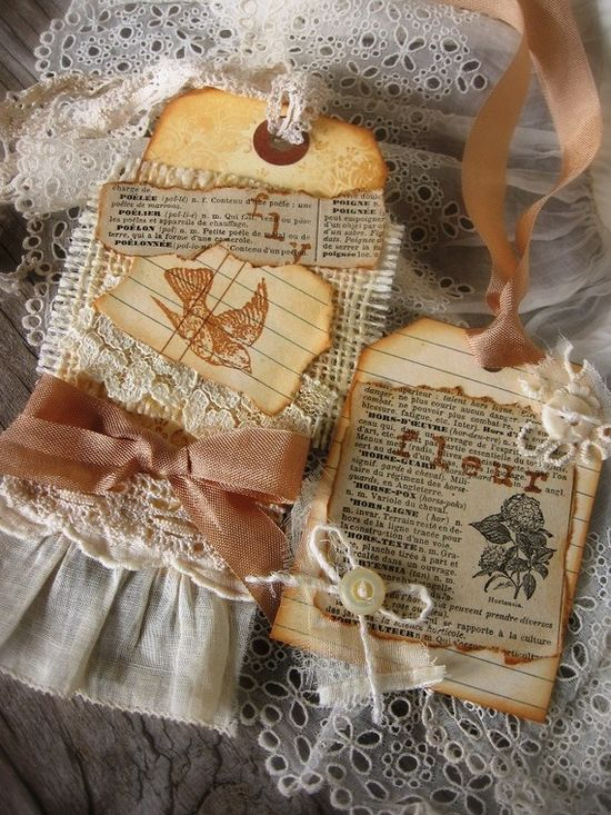 vintage inspired gift tags
