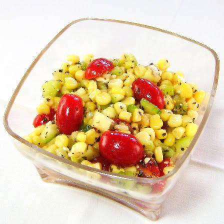 Corn feta salad