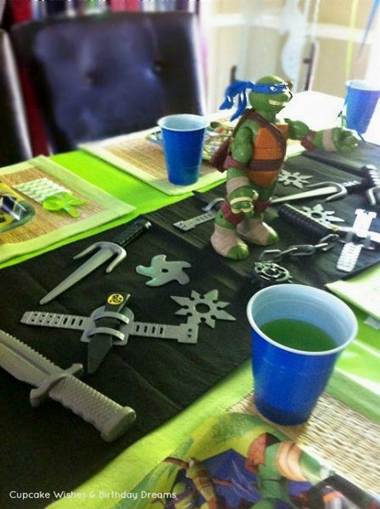 TMNT Birthday Party Ideas www.spaceshipsand...