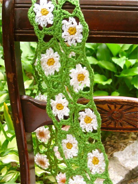 Daisy Scarf #daisy#scarf#crochet#flower