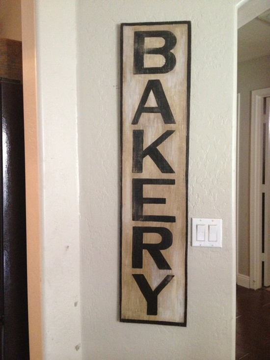 Giant antique inspired wood bakery