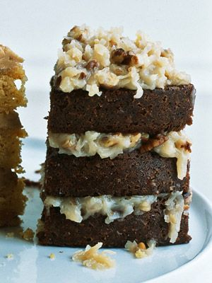 Pecan-Laced German Chocolate Cake