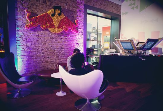 Red Bull commissioned PopStore to revamp its London HQ #Cool #Office #Design #Interior