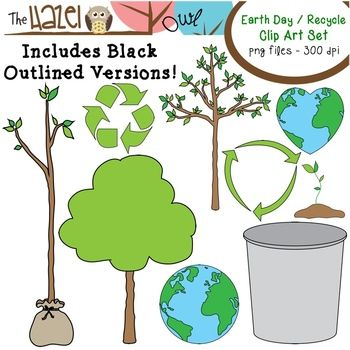 Earth Day / Recycle Clip Art!  54 images including 6 fun characters!!  $