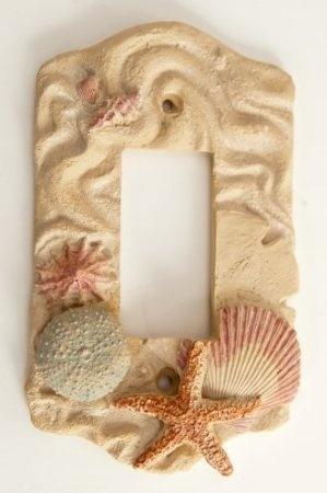 Amazon.com: Switch Plate Nautical Decor Seashell GFI Rocker Lightswitch Plate Cover: Home & Kitchen