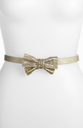 Tarnish 'Skinny Sparkle' Bow Belt
