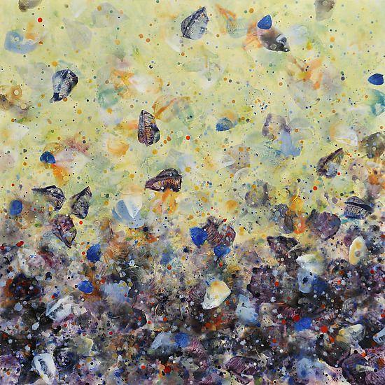 Scattered Blues: Marlene Sanaye Yamada: Acrylic Painting