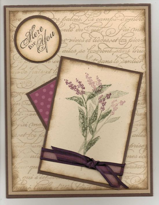 Beautiful Handmade Card / Stampin Up / Other