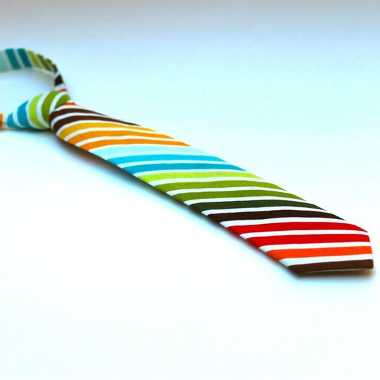 So cute....Baby Boy Handmade Striped Tie!