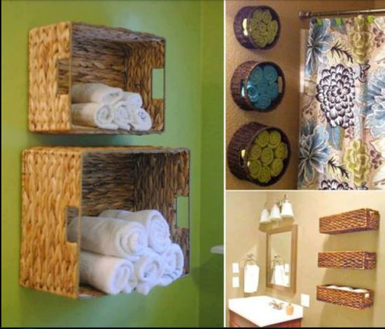 Easy #DIY storage ideas - Use this in your bathroom for easy storage of towels and other misc items.