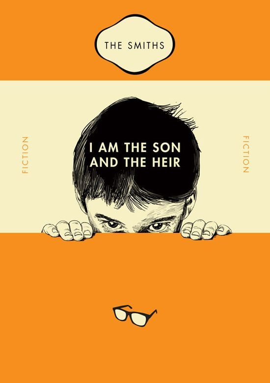 Smiths song lyrics as Penguin book covers.