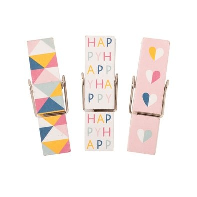 Wooden Magnetic Pegs: Happy, $9.95