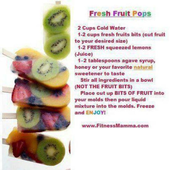 Fresh fruit pops
