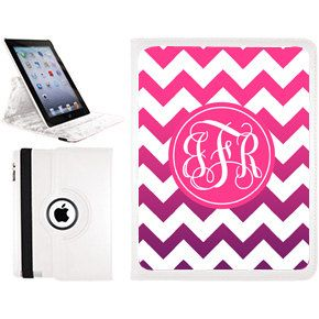 Ombre Chevron Personalized iPad Mini Smart Case by AModernStyle, $45.00