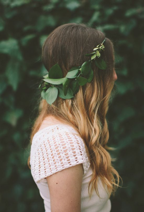 greenery crown