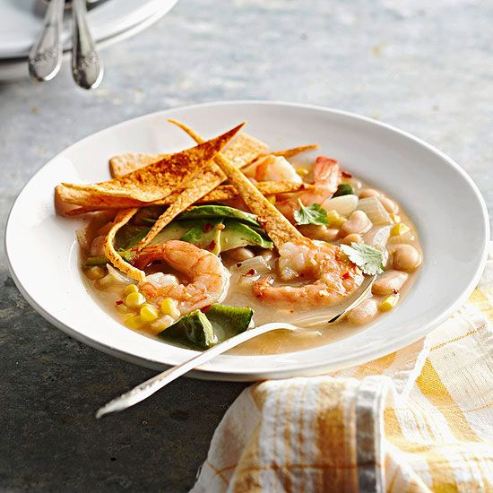 You'll love the bold Southwestern flavors in this so-easy shrimp soup. More recipes from the magazine: www.bhg.com/...