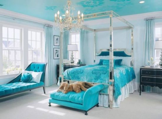 Blue Turquoise Room Design
