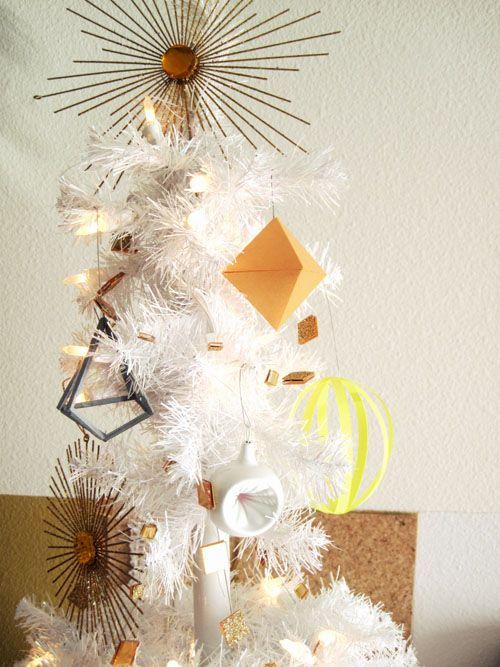 Modern white Christmas tree. Repinned from Vital Outburst clothing vitaloutburst.com