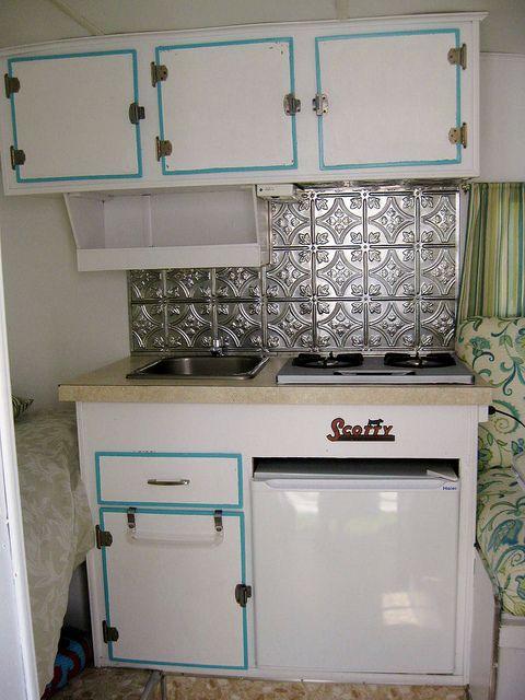 Cute little camper kitchen