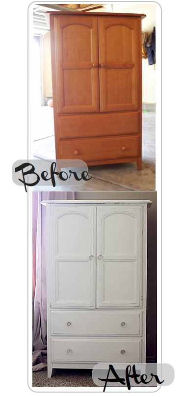 DIY: Painting Solid Wood Furniture White/ How to Distress White Furniture
