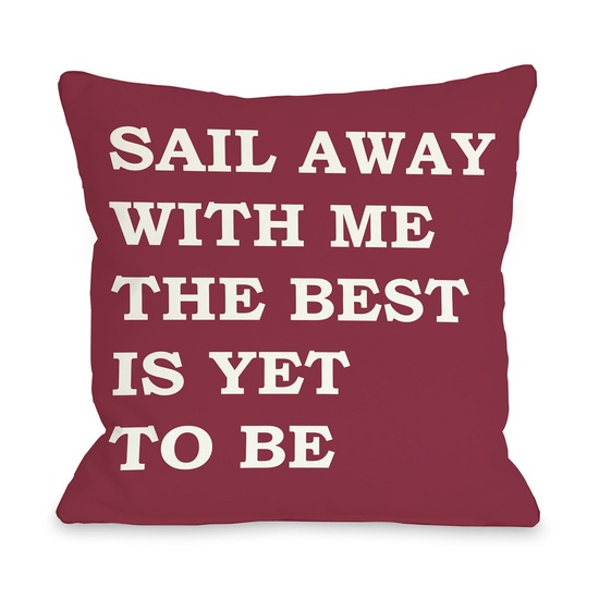Sail Away Pillow  by One Bella Casa